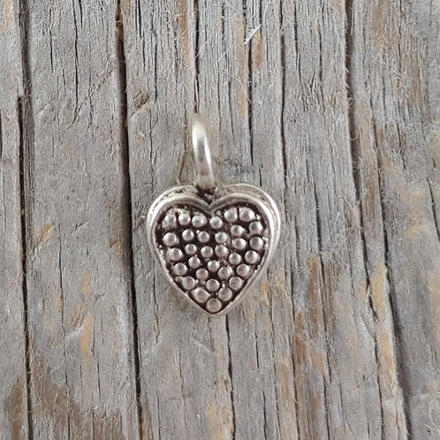 sterling silver heart charm #13