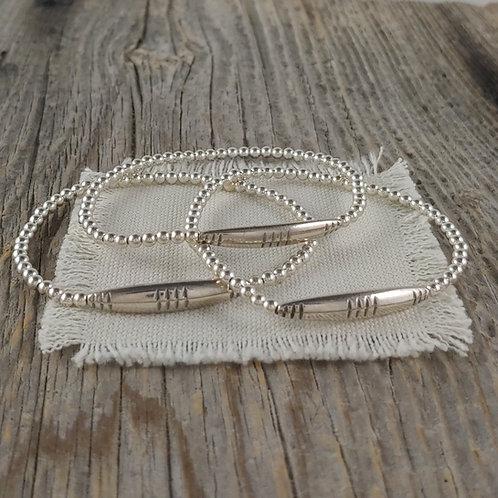 thai station silver stretchy bracelet