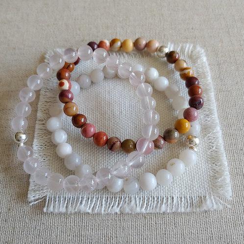 semi-precious bracelet trio #2