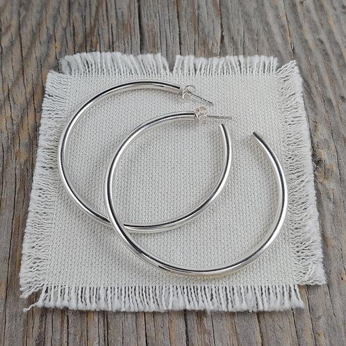 large tube posted hoop earrings