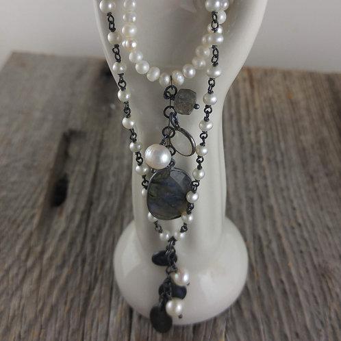 love & 'peace' necklace