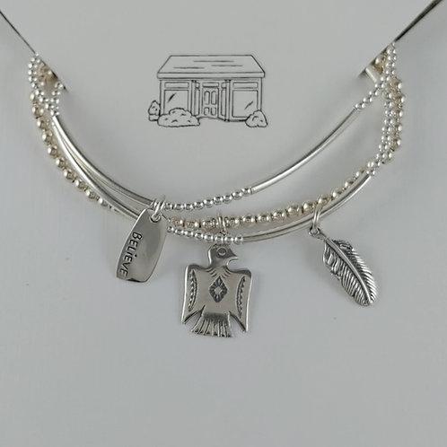 freedom stretchy bracelet trio