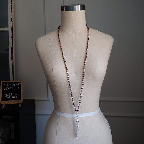 tourmaline tasseled necklace