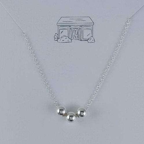 medium Newton's 'cradle' necklace