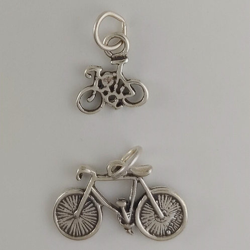 sterling silver 'bike' charms