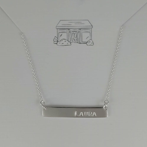 bespoke 'bar' necklace