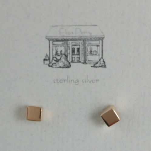 'M' rose gold cubes