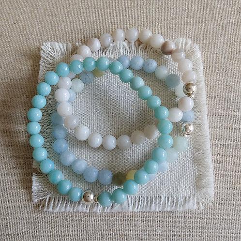 semi-precious bracelet trio #9