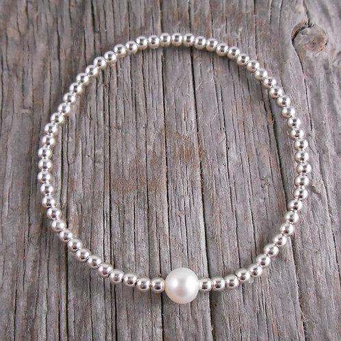 'pearl' station stretchy bracelet