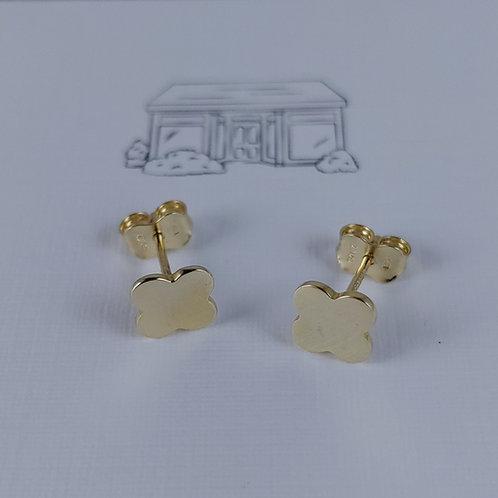 10kt gold clover stud earrings
