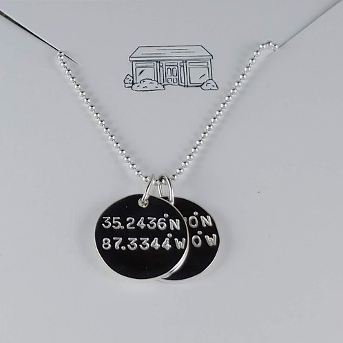 extra large disc necklace