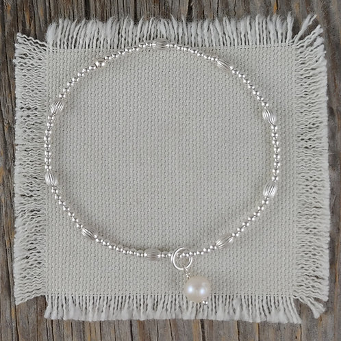 mini puff 'pearl' stretchy bracelet