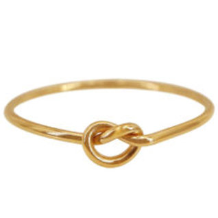 gold-filled love 'knot' ring