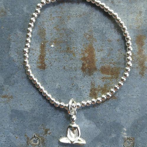 yoga girl & 3mm beaded stretchy bracelet