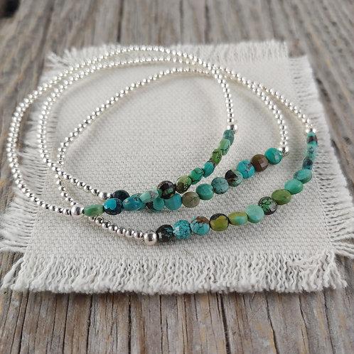 turquoise station stretchy bracelet