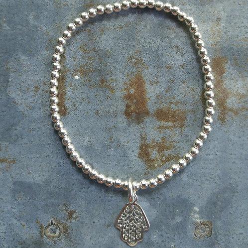 'hamsa' & 3mm stretchy bracelet
