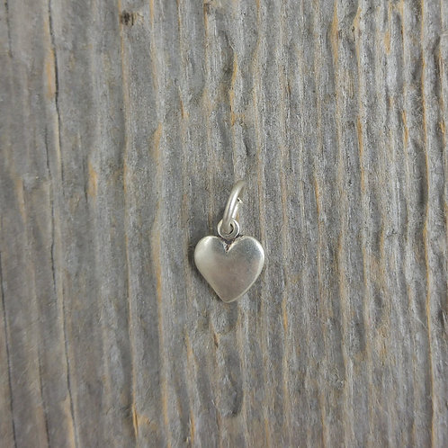 sterling silver heart charm #11