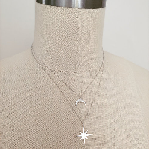 celestial 'layered' necklace