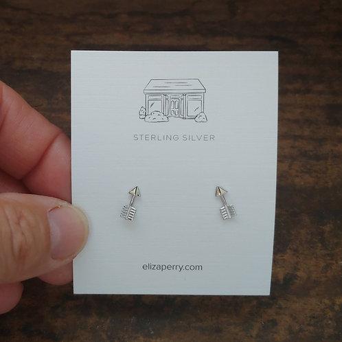 'arrow' stud earrings
