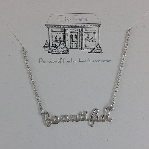 'beautiful' necklace