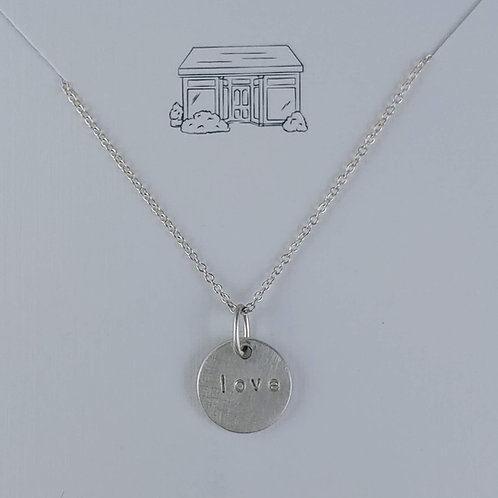 love 'disc' necklace