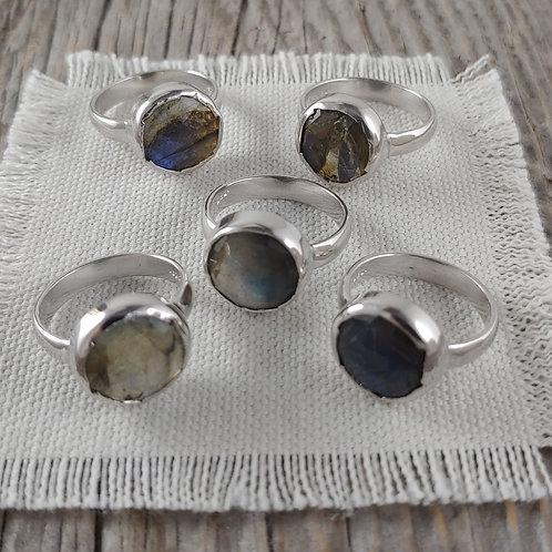 labradorite 'bezel' ring