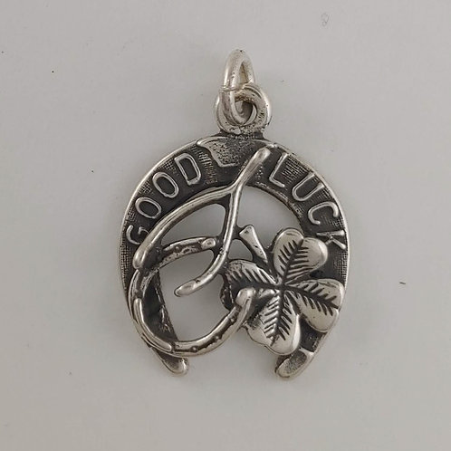 sterling silver 'good luck' charm