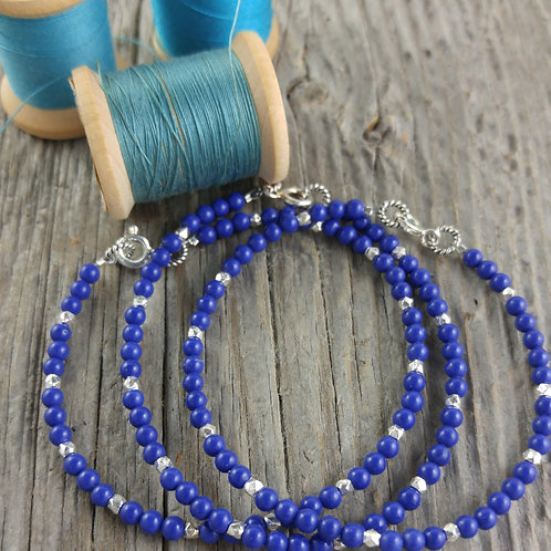 'blue' agate bracelet