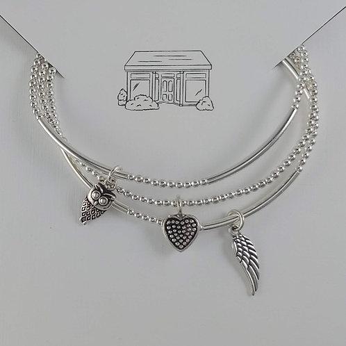 wisdom, hope & love stretchy bracelet trio