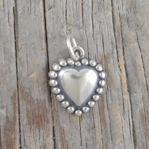 sterling silver heart charm #14