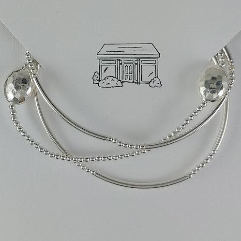 'hammered' stretchy bracelet trio #1