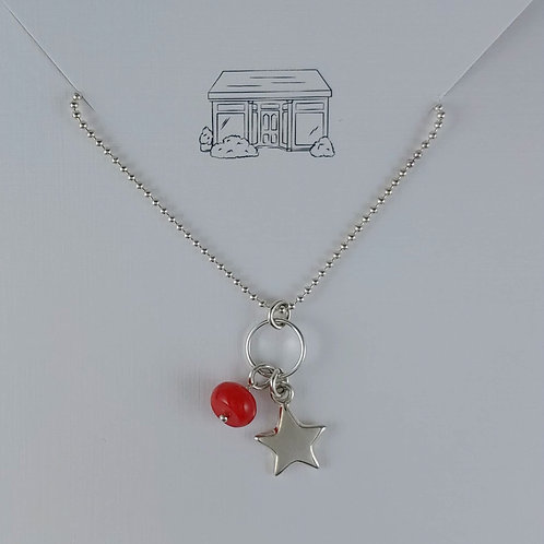 bamboo & star 'pendant' necklace