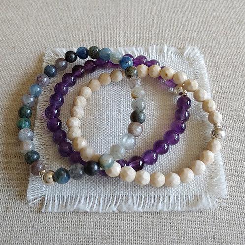 semi-precious bracelet trio #5