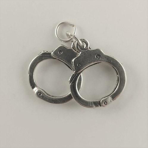 sterling silver 'hand' cuffs charm