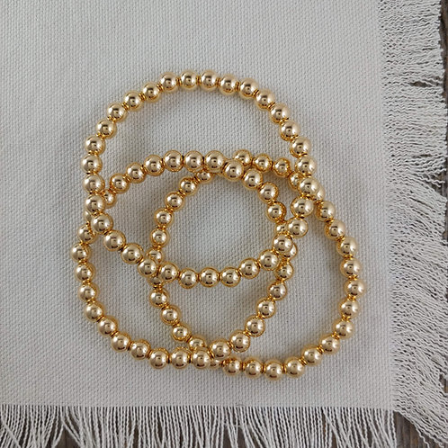 '6mm' golden stretchy bracelet
