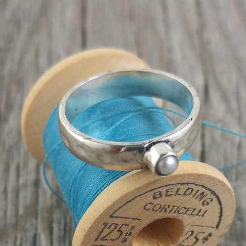wide pearl 'band' ring