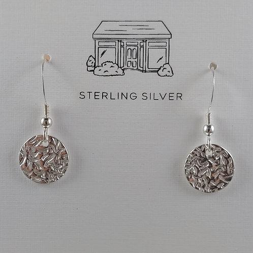 crinkled disc earrings