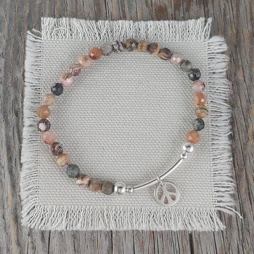 rhodonite station stretchy bracelet