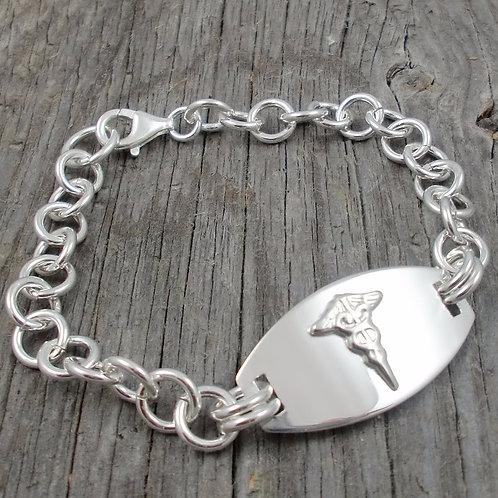 sterling silver medic alert bracelet