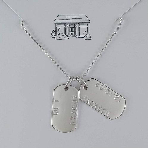 medium dog tag necklace
