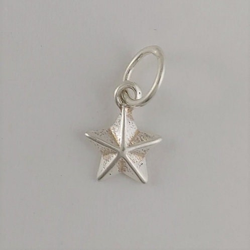 sterling silver mini 'star' charm