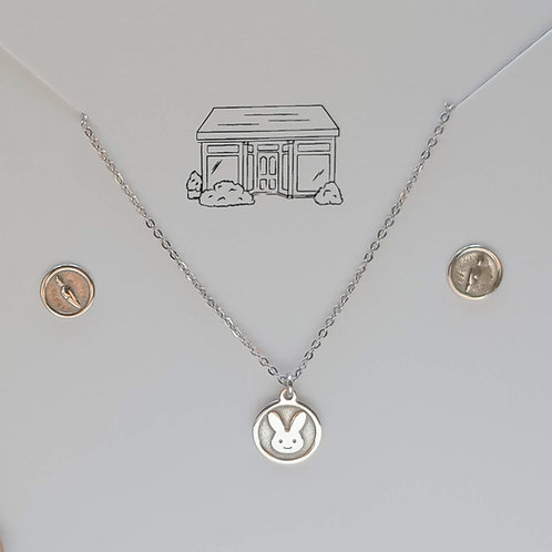 'bunny' & carrots childrens necklace set
