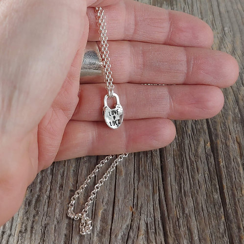 love lock necklace