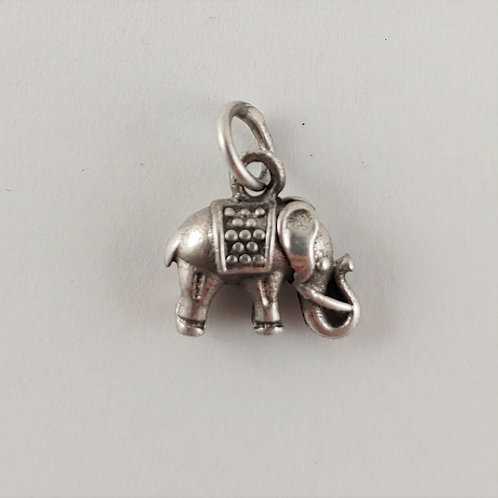 sterling silver 'elephant' charm