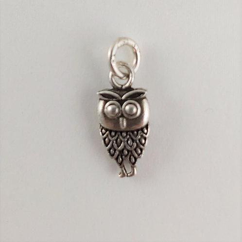 sterling silver 'owl' charm