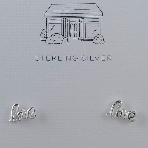 'love' stud earrings