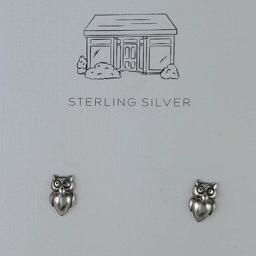 'owl' stud earrings