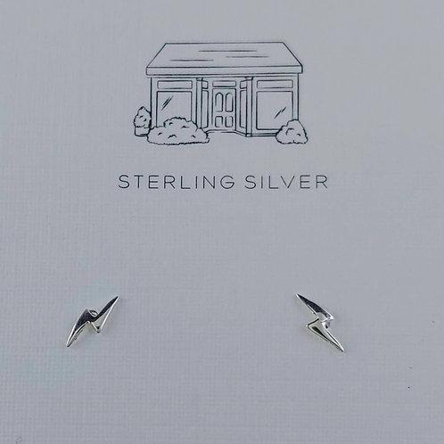 lightning 'bolt' stud earrings