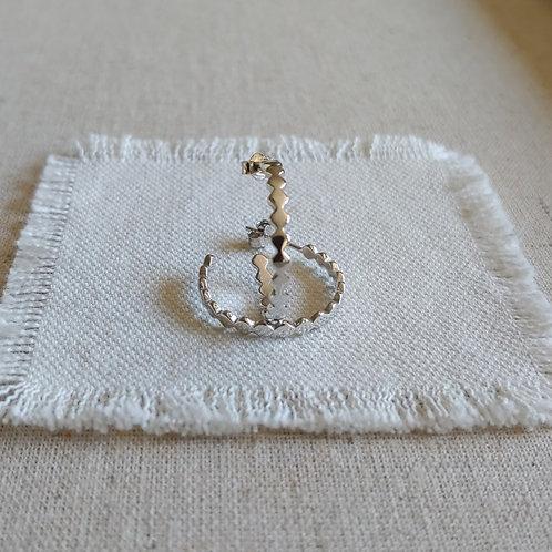 diamond posted hoop earrings