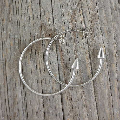 pointed 'hoop' earrings